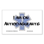 I am on Anticoagulants Sticker