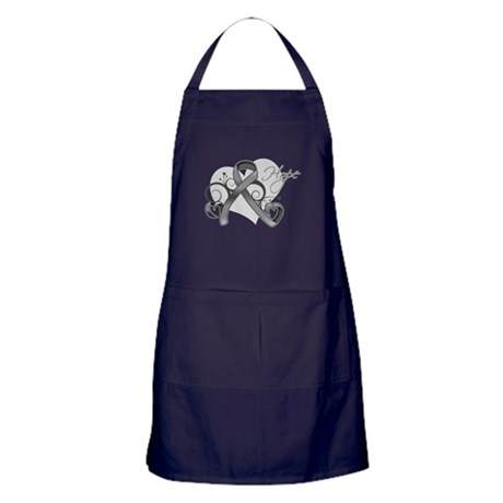 Hope Ribbon Brain Cancer Apron (dark)