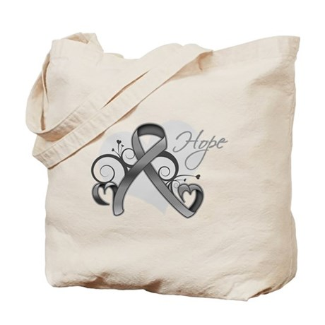 Hope Ribbon Brain Cancer Tote Bag