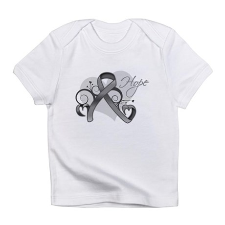 Hope Ribbon Brain Cancer Infant T-Shirt