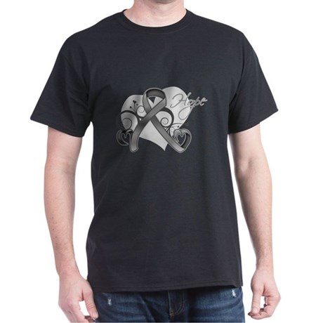 Hope Ribbon Brain Cancer Dark T-Shirt