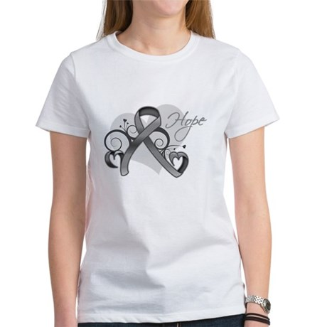 Hope Ribbon Brain Cancer Women's T-Shirt