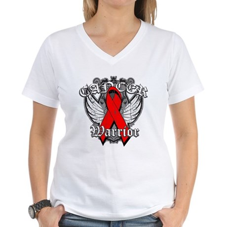 Blood Cancer Warrior Women's V-Neck T-Shirt