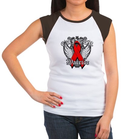 Blood Cancer Warrior Women's Cap Sleeve T-Shirt