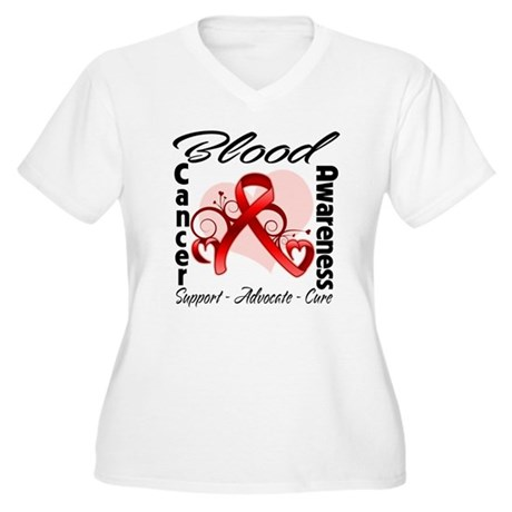 Blood Cancer Awareness Women's Plus Size V-Neck T-