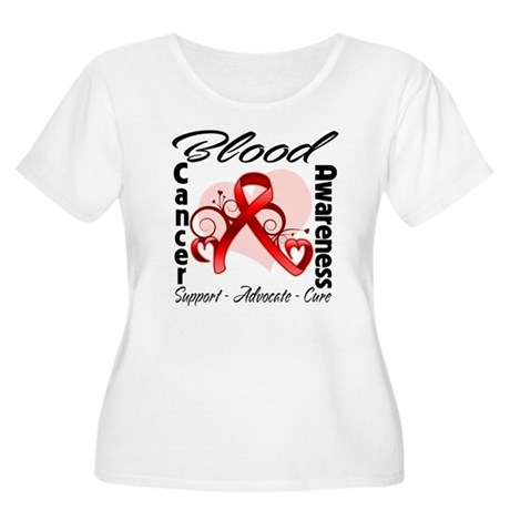 Blood Cancer Awareness Women's Plus Size Scoop Nec