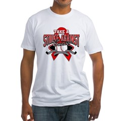Take a Strike Blood Cancer Fitted T-Shirt