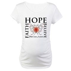 Blood Cancer Faith Hope Maternity T-Shirt