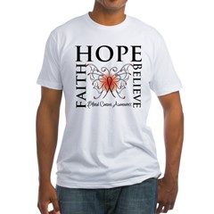 Blood Cancer Faith Hope Fitted T-Shirt