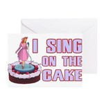 I Sing On The Cake Greeting Cards (Pk of 20)