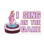 I Sing On The Cake Mini Poster Print