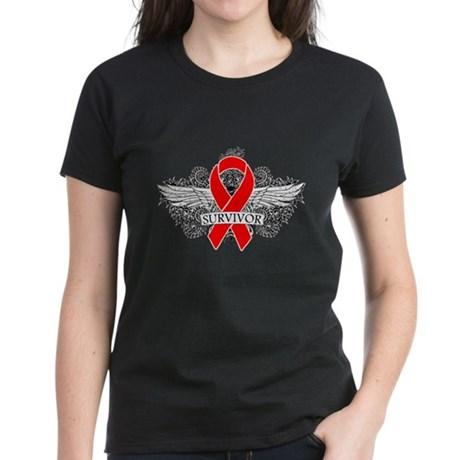Blood Cancer Survivor Women's Dark T-Shirt