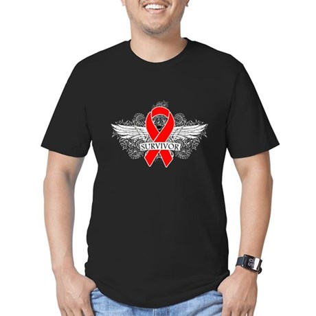 Blood Cancer Survivor Men's Fitted T-Shirt (dark)