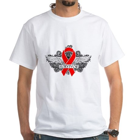 Blood Cancer Survivor White T-Shirt