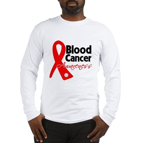 Blood Cancer Ribbon Long Sleeve T-Shirt