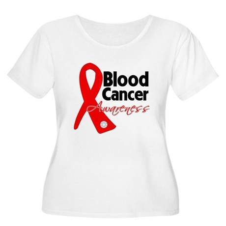 Blood Cancer Ribbon Women's Plus Size Scoop Neck T
