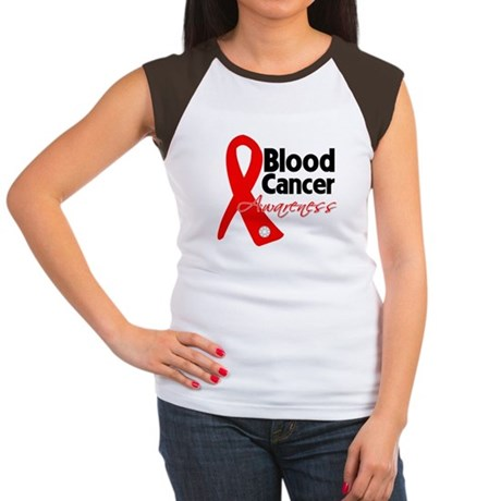 Blood Cancer Ribbon Women's Cap Sleeve T-Shirt