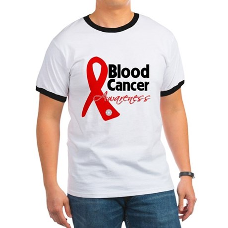Blood Cancer Ribbon Ringer T