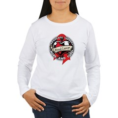 Blood Cancer Heart Ribbon Women's Long Sleeve T-Sh
