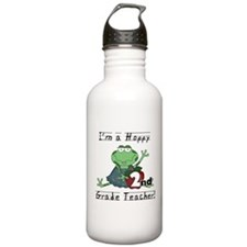 Hoppy 2nd Grade Teacher Sports Water Bottle