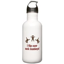 Flip Over Sock Monkeys Water Bottle