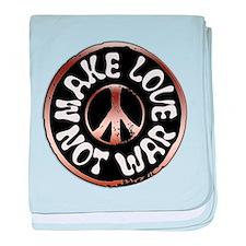 Make Love Not War baby blanket