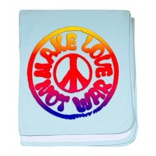 Make Love Not War baby blanket