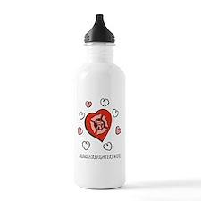 Proud Firefighter's Wife Water Bottle