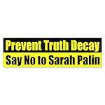 Prevent Truth Decay Sarah Palin car sticker