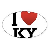 I Love KY Decal