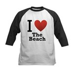 I Love the Beach Kids Baseball Jersey