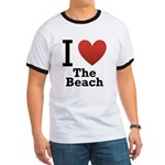 I Love the Beach Ringer T