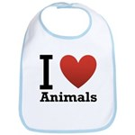 I Love Animals Bib