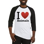I Love Animals Baseball Jersey