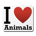 I Love Animals Mousepad