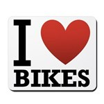 I Love Bikes Mousepad