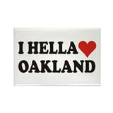 I Hella (Heart) Oakland Rectangle Magnet (10 pack)