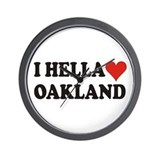 I Hella (Heart) Oakland Wall Clock