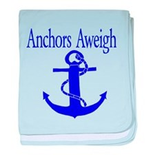 Anchors Aweigh Blue baby blanket