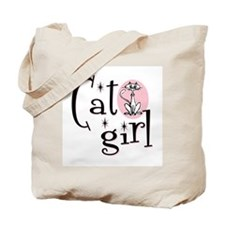 Cat Girl Tote Bag