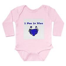 I Poo in Blue long sleeve onsie