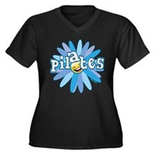Pilates Flower by Svelte.biz Women's Plus Size V-N