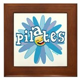 Pilates Flower by Svelte.biz Framed Tile