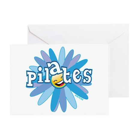 Pilates Flower by Svelte.biz Greeting Card