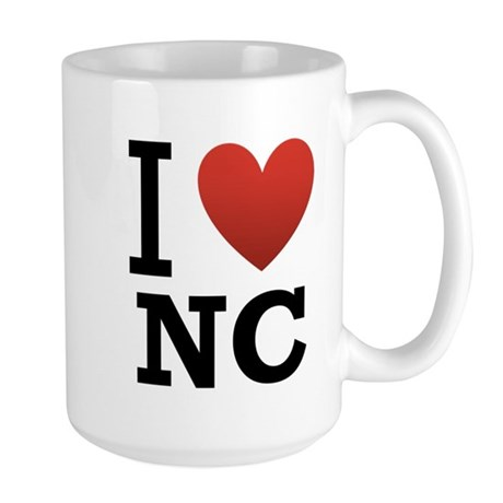 I Love North Carolina Large Mug