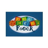 Teachers Rock! Rectangle Magnet (100 pack)