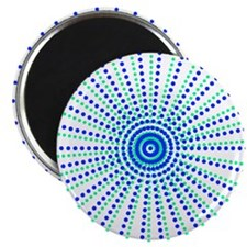 "Digital Tie Dye 2.25"" Magnet (10 pack)"