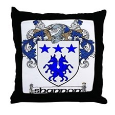 Shannon Coat of Arms Throw Pillow