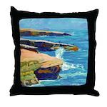 Ocean Beach Sunset Cliffs Throw Pillow