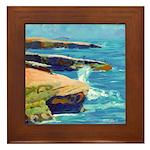 Ocean Beach Sunset Cliffs Framed Tile